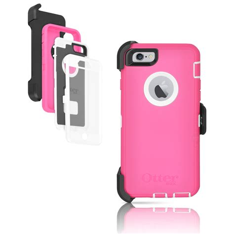 otterbox defender iphone 6 6s 4 7 quot holster neon pink white oem ebay