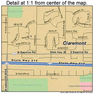 map of claremont california claremont california map 0613756