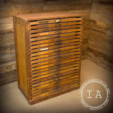Flat File Cabinet Vintage Industrial 22 Drawer Wooden Flat File Cabinet Drafting Archite Industrial Artifacts