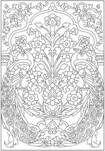 peacock coloring pages for adults free download coloring