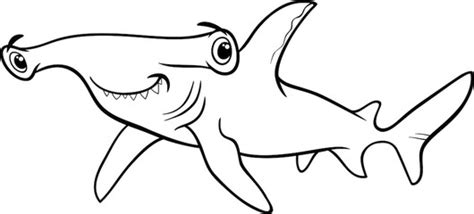coloring page of a hammerhead shark photos illustrations et vid 233 os de quot hammerhead shark quot