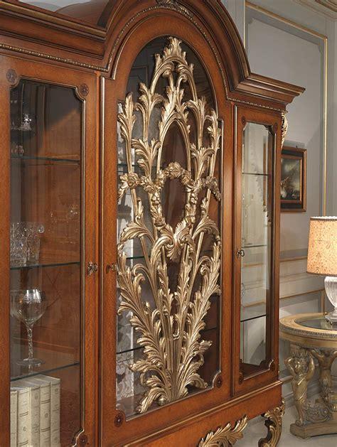 silla oriental furniture carved glass showcase versailles in louis xvi style