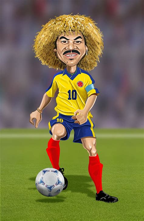 imagenes comicas de jugadores de futbol caricatura de carlos valderrama varios pinterest