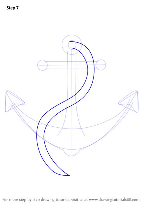 how to make a boat anchor learn how to draw a boat anchor boats and ships step by