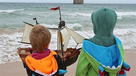 toy boat launched in scotland boys launched toy pirate ship that reached the coast of