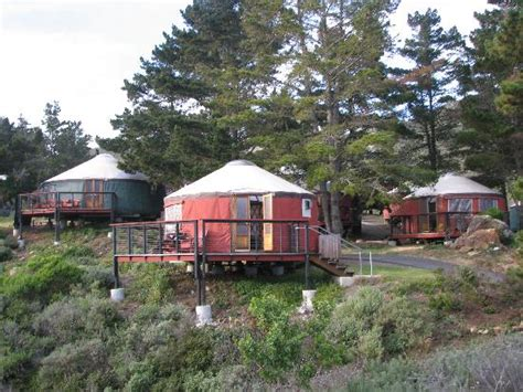 Big Hotels And Cabins by Exterior View Of Yurts Picture Of Treebones Resort Big