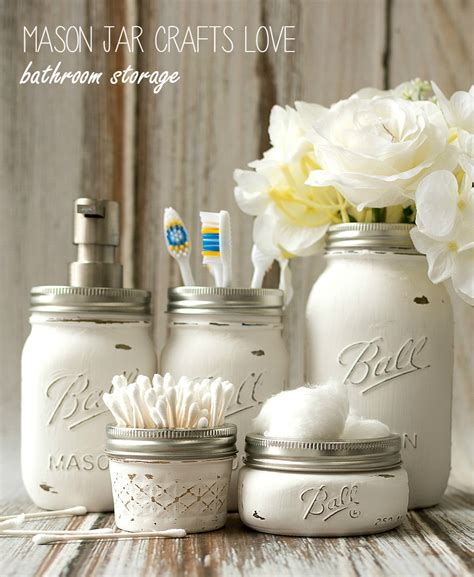 Mason Jar Bathroom Storage Accessories Mason Jar Jar Bathroom Storage
