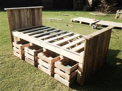diy pallet bed with storage diy pallet bed with storage ideas pallets designs