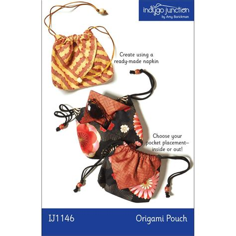 Origami Pouch - origami pouch by indygo junction indygojunction