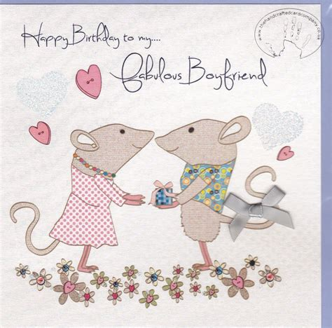 Handmade Birthday Card For Boyfriend - handmade boyfriend birthday card karenza paperie