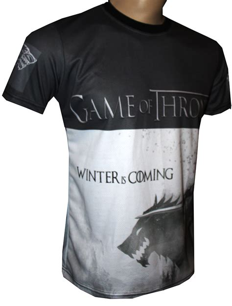 Tshirt Winter Is Coming I of thrones t shirt with logo and all printed