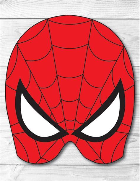 printable mask of spiderman spiderman diy face mask instant download paper printable