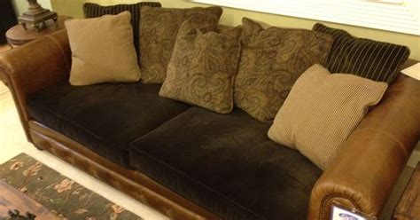 restore couch cushions leather couch with fabric cushions furniture pinterest