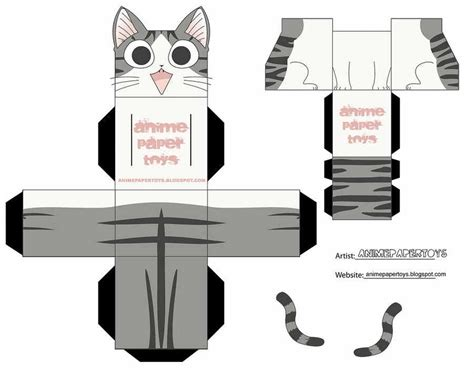 Papercraft Pattern - el observatorio de mini fu cubeecraft y papercraft de gatos
