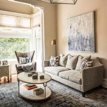 taupe and blue living room interior design inspiration photos by artistic designs for living