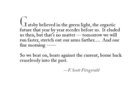 Great Gatsby Green Light Quote by A Of One S Own Why Gatsby Is So Great