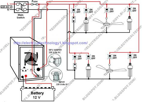 electrical technology automatic ups system wiring diagram