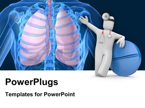 powerpoint themes lungs powerpoint template medical concept with doctor and blue