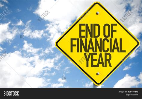 new year ends end financial year sign sky image photo bigstock
