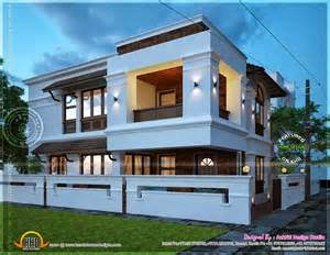 Home Design For 2000 Sq Ft 2450 square feet villa view night kerala home design and