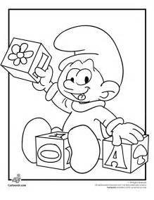 picture smurf coloring