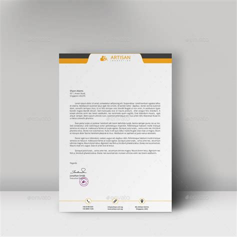 20 Letterhead Templates Mockups That Will Save You Time Professional Stationery Templates