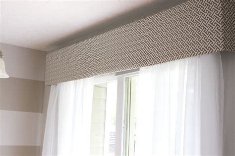 omh cornice box help and the sliding glass window - Window Treatment Box