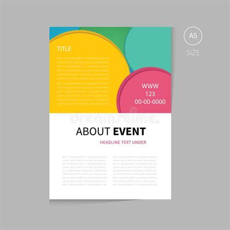 vector event brochure template design stock vector image