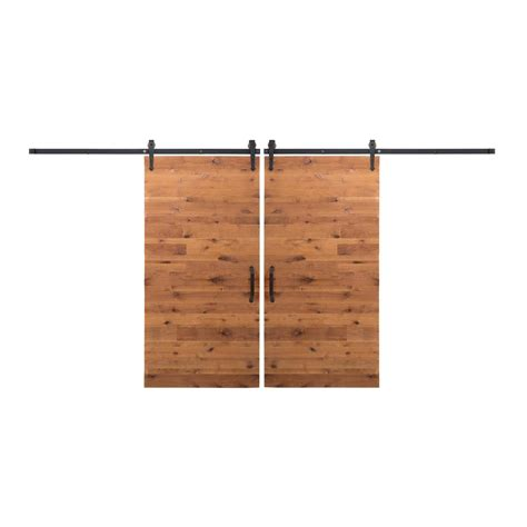 Rustica Hardware Bi Parting 42 In X 84 In Rustica Reclaimed Barn Door Hardware