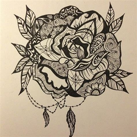 paisley heart tattoo designs i d consider this we it black and white