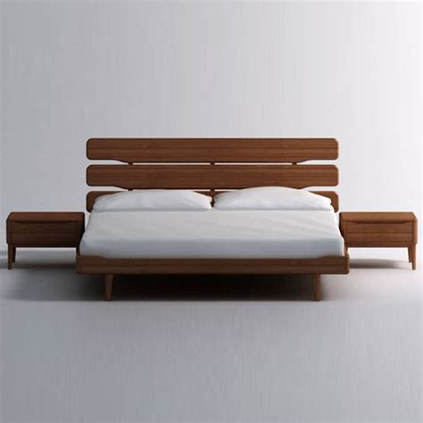 Modern Wood Bed Frame Modern Bed Frames And Wall Shelves Sugarthecarpenter