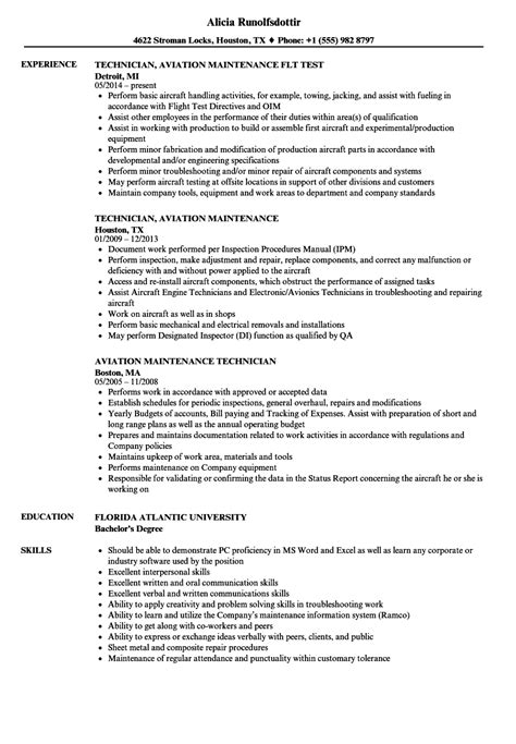 maintenance officer resume format aviation maintenance technician resume sles velvet