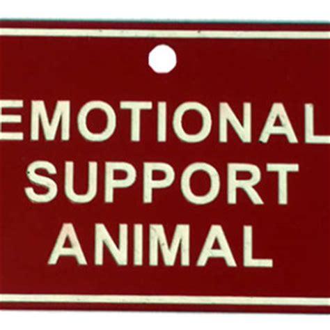 emotional support registration emotional support tag 187 us registry