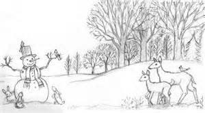 winter landscape coloring pages colorings net