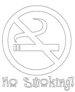 no smoking coloring page gif