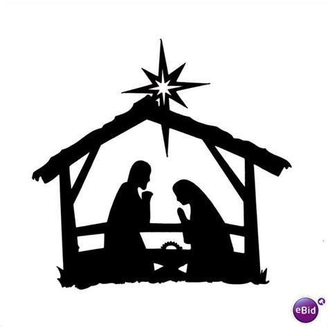 nativity silhouette coloring page search results for printable nativity scene silhouette