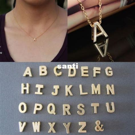 Kalung New Fashion Jewelry Gold Chain Necklace Pendant B 1 wholesale letter name initial chain pendant fashion