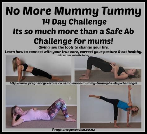 no more mummy tummy 14 day safe ab challenge pregnancy exercise