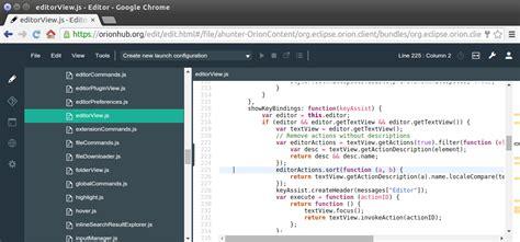 best web design editor linux browser ides im vergleich eclipse che vs orion vs