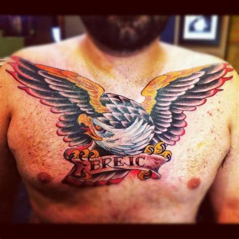 tattoo eagle old school chest old school eagle tattoo by pioneer tattoo
