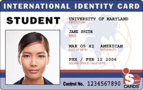 american id card template international student identity id cards