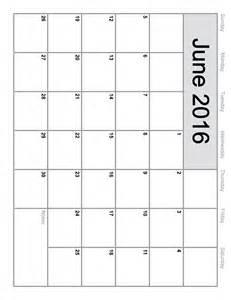 june 2016 printable calendar landscape a4 portrait