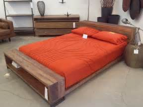 Bed Frames On The Floor Old Reclaimed Wooden Mid Century Modern King Size Bed