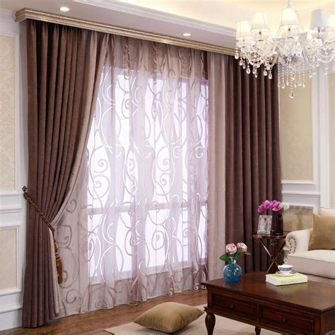 Living Room Curtains Bedroom Or Living Room Chenille Blackout Curtains Drapes