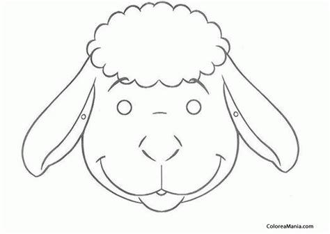 imagenes para dibujar de ovejas colorear oveja mscara careta antifaz dibujo para