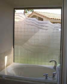 squares waves bathroom windows frosted glass designs