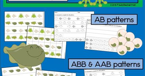 math frog pattern quest frog life cycle patterns math center with ab abc aab