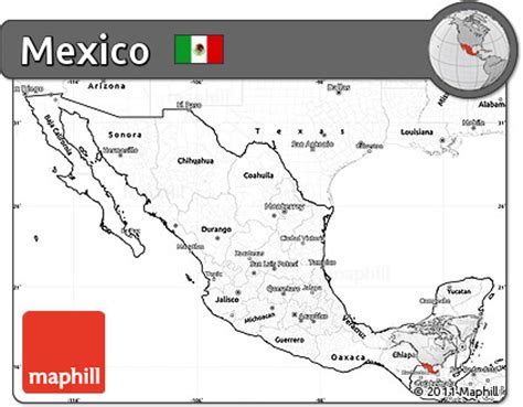 map of mexico printable black and white printable map of mexico pictures to pin on