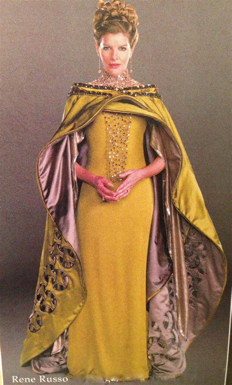 thor movie queen production still of rene russo in costume as queen frigga