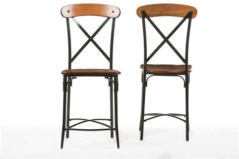 bar stools in chicago baxton studiobroxburn light brown wood metal bar stool